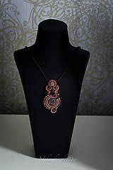 Náhrdelníky - Šujtášový náhrdelník Art deco - 10906385_
