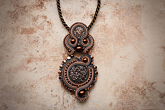 Náhrdelníky - Šujtášový náhrdelník Art deco - 10906381_