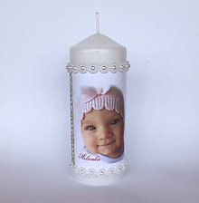Detské doplnky - Sviečky na krst s fotom bábätka - 10906585_