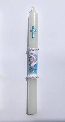 Detské doplnky - Sviečky na krst - 10906917_
