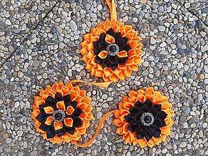 Dekorácie - Kanzashi kvety - slnečnice - dekorácia. - 10907941_