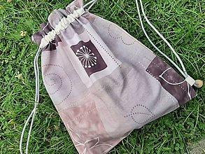 Batohy - Ekologické Zero Waste vrecúško, ruksak, vak. - 10908046_
