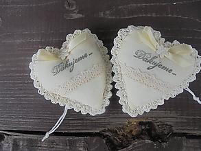 Darčeky pre svadobčanov - Srdiečko do dlane-svadobné, - 10906558_