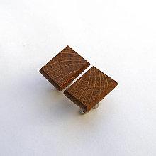 Šperky - Drevené manžetové gombíky - dubové obdĺžniky - 10906583_