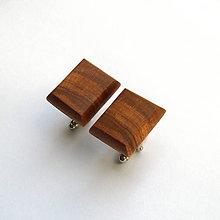 Šperky - Drevené manžetové gombíky - hruškové obdĺžniky - 10906759_