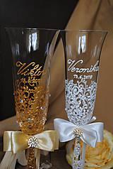 Nádoby - Svadobné poháre - 10908723_