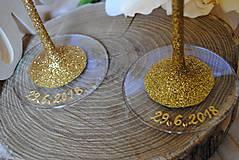 Nádoby - Svadobné poháre - 10909124_