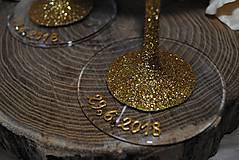Nádoby - Svadobné poháre - 10909125_