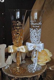 Nádoby - Svadobné poháre - 10908722_