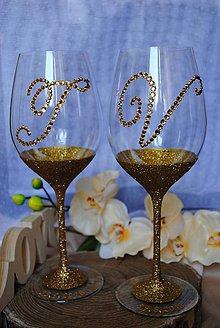 Nádoby - Svadobné poháre - 10909123_