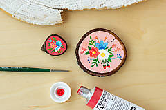 Obrazy - Mini obrázek - v růžové - 10909424_