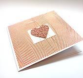 Papiernictvo - Pohľadnica ... pletené srdce - 10910137_