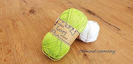 Galantéria - Lori natural (145 - Jablkovo zelená) - 10910936_