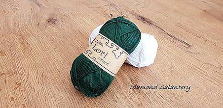 Galantéria - Lori natural (157 - Tmavo zelená) - 10910938_