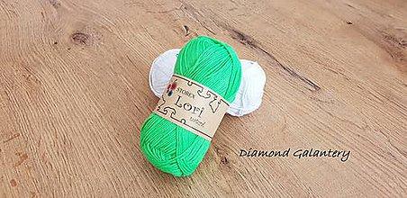 Galantéria - Lori natural (14-264 - Neonovo zelená) - 10910944_