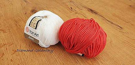 Galantéria - Yarn Art - Jeans (26 Červená) - 10911081_