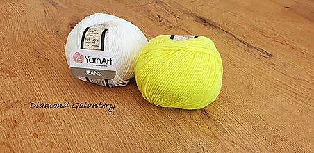 Galantéria - Yarn Art - Jeans (58 Neonovo Žltá) - 10911082_