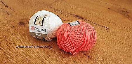 Galantéria - Yarn Art - Jeans (61 Oranžová) - 10911086_