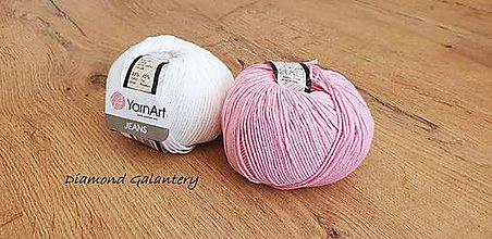 Galantéria - Yarn Art - Jeans (36 Ružová) - 10911101_