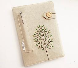 Papiernictvo - Zápisník vyšívaný A5 - Zelený strom - 10910305_