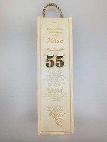 Krabičky - Gravirovana krabica na víno - 10909305_