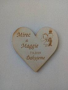 Darčeky pre svadobčanov - Svadobná magnetka - 10909334_