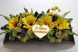 Dekorácie - Ikebana -slnečnice - 10909170_
