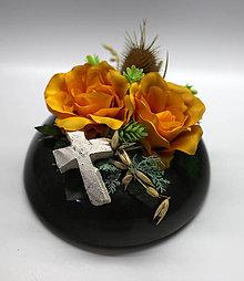 Dekorácie - Tmavo žlté ruže - 10909367_