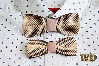 Doplnky - Drevený motýlik Otec-syn - 10909144_