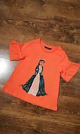 Tričká - Maľované tričko Barbie Princess - 10909112_