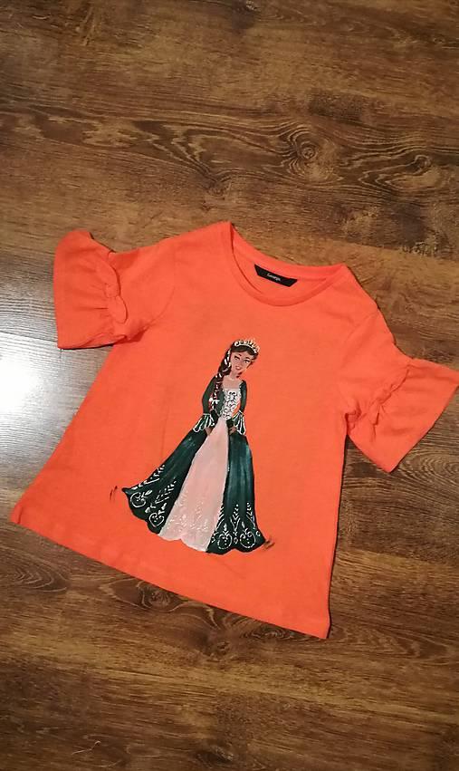 Maľované tričko Barbie Princess