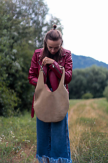 Veľké tašky - kožená_na rameno - 10910873_