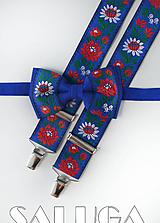 Detské doplnky - Detský folklórny set - modrý - 10910143_
