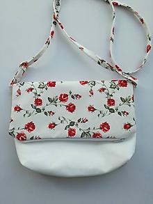 Kabelky - Malá kabelka červené ružičky - 10908516_