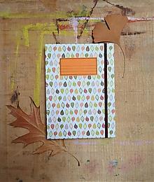 Papiernictvo - Zápisník A5 - Jesenné lístie (linajkový) - 10910362_