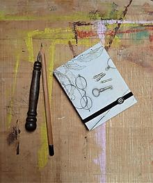 Papiernictvo - Kľúče - mini reportérsky zápisník - 10910475_