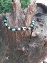 Náramky - Náramok s písmenom N - 10909858_