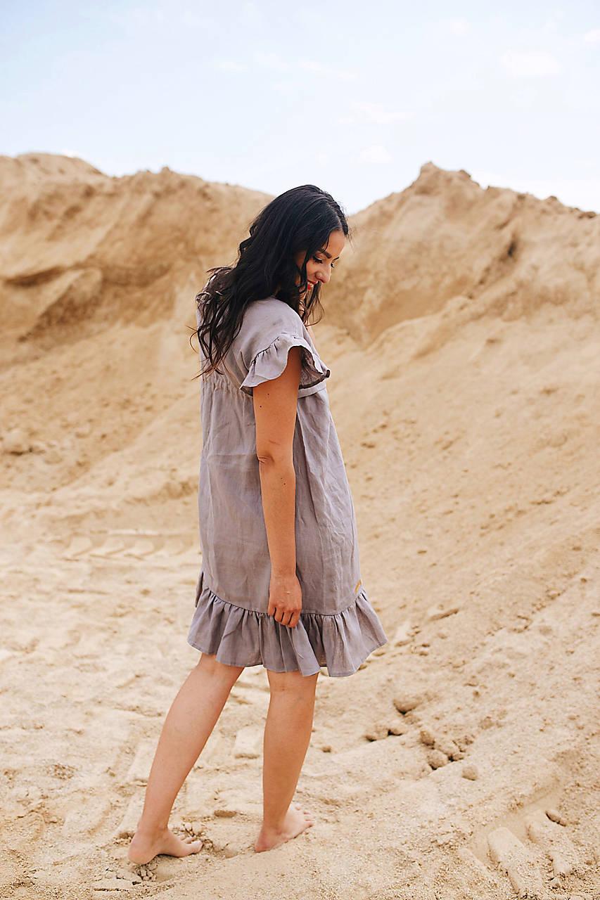 Ľanové šaty Grey