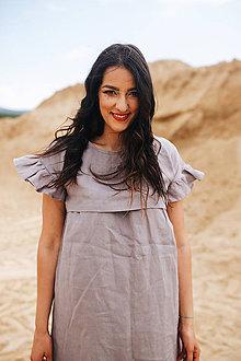Šaty - Ľanové šaty Grey - 10910105_