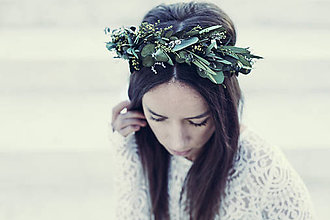 Ozdoby do vlasov - Venček Eukalyptus - 10909644_