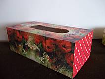Krabičky - Drevený zásobník v červenom - 10908544_