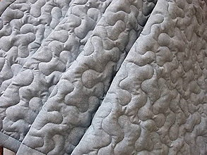 Úžitkový textil - Šedá melírovaná zástena - vlny - 10911145_