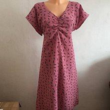 Šaty - Mušelínové šaty- starorůžové vážky 46 - 10908798_