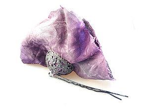 Iné šperky - Sponka - Kvet fuchsie 2 - 10908834_