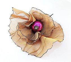 Iné šperky - Sponka - Kvet fuchsie 3 - 10909981_