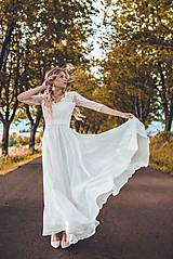 Šaty - Svadobné šaty z vyšívanej krajky a s veľkou kruhovou sukňou - 10908827_