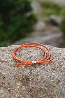 Náramky - Náramok zaťahovací jednoduchý (Oranžová) - 10909722_
