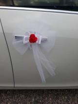 Iné doplnky - Vyzdoba na svadobne auto s obruckami - 10910289_