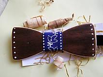 Iné doplnky - Drevený maľovaný motýlik pre pánov - 10910991_