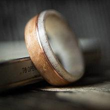 Prstene - drevená obrúčka - parožie/kučeravá breza - 10910014_